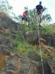 Jeff Rock climbing